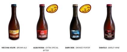 Birre del Birrificio Valcavallina