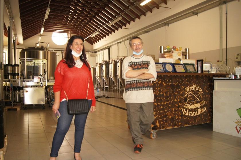Raffi Garofalo e Renato Carro nel Birrificio Valcavallina