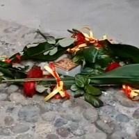 Celebrare la Giornata della Memoria davanti alla prima pietra d'inciampo di Bergamo all'ex Carcere di Sant'Agata