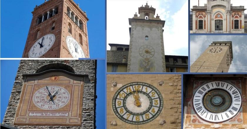 orologi di Bergamo e provincia collage copertina