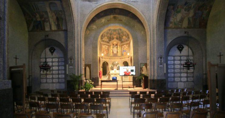 Interno sacrario Tempio dei Caduti San Pellegrino Terme
