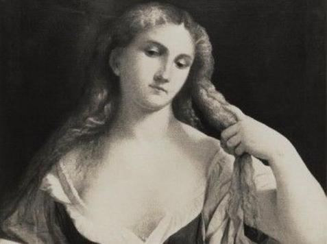 Palma il Vecchio Donna che si pettina i capelli