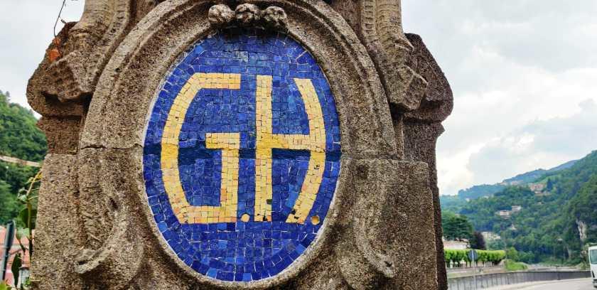 Logo mosaico grand Hotel San Pellegrino
