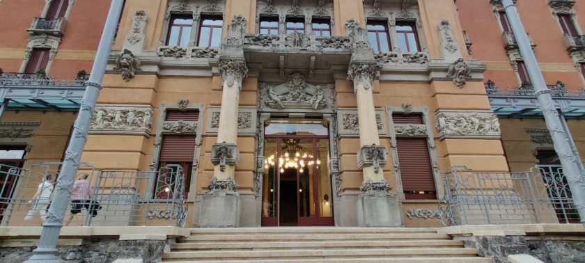 Scalone ingresso Grand Hotel San Pellegrino