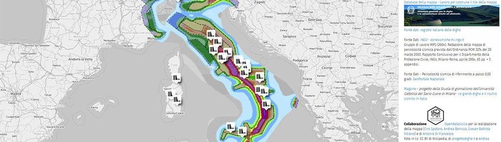 Cartina Sismica Italia Wikipedia.Le Maggiori Dighe D Italia E Aree Di Pericolosita Sismica Cose Robe Rielaborazioni Dataset Opendata Gbvitrano