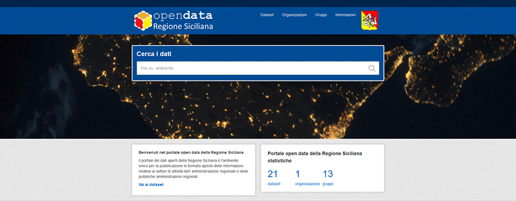 Sicily launches Open Data portal