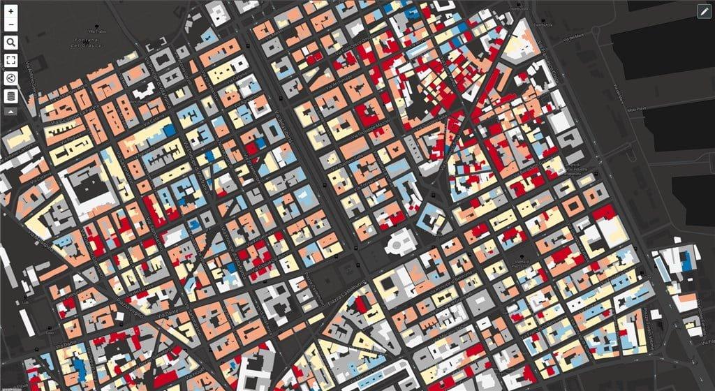 uMap - Tematizzare velocemente i poligoni - Vulnerabilità sismica degli edifici residenziali di Palermo