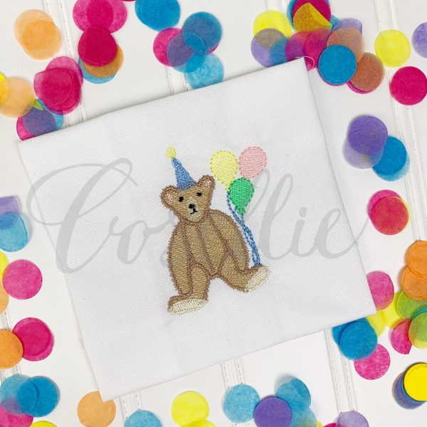 Teddy birthday fill embroidery design, Birthday bear, Birthday Teddy bear, Boy birthday, Girl birthday, Bear, Teddy bear embroidery design, Vintage bear, Classic teddy bear, Boy, Girl, Vintage stitch embroidery design, Applique, Machine embroidery design, Blanket stitch, Beanstitch, Vintage, Classic