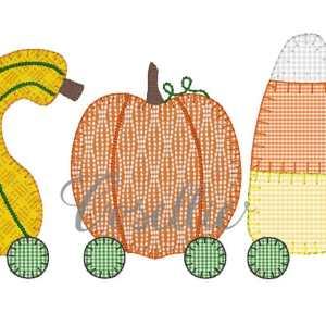 Thanksgiving embroidery design, Candy corn, Squash, Pumpkin, Fall, Vintage Thanksgiving, Vintage stitch embroidery design, Applique, Machine embroidery design, Blanket stitch, Beanstitch, Vintage