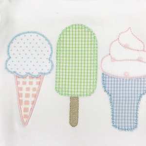 Ice cream applique embroidery design, Ice cream embroidery design, Summer, Popsicle, Spring embroidery design, Vintage stitch embroidery design, Applique, Machine embroidery design, Blanket stitch, Beanstitch, Vintage