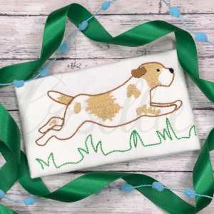 Running boy dog embroidery design, Puppy dog, Dog, Running dog, Running puppy, Girl dog, Girl puppy, Boy dog, Boy puppy, Boy, Vintage stitch embroidery design, Applique, Machine embroidery design, Blanket stitch, Beanstitch, Vintage, Classic