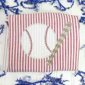 Baseball and bat embroidery design, Baseball applique, Baseball and bat, Sports, Boy, Vintage stitch embroidery design, Applique, Machine embroidery design, Blanket stitch, Beanstitch, Vintage, Classic