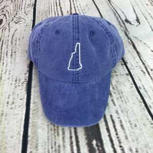 New Hampshire baseball cap, New Hampshire baseball hat, New Hampshire hat, New Hampshire cap, State of New Hampshire, Personalized cap, Custom baseball cap