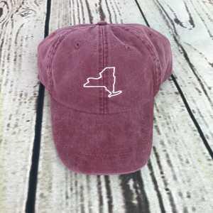 New York baseball cap, New York baseball hat, New York hat, New York cap, State of New York, Personalized cap, Custom baseball cap