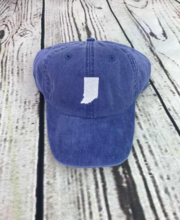 Indiana baseball cap, Indiana baseball hat, Indiana hat, Indiana cap, State of Indiana Personalized cap, Custom baseball cap