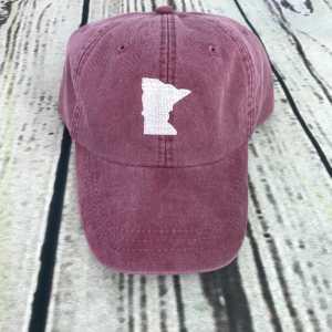 Minnesota baseball cap, Minnesota baseball hat, Minnesota hat, Minnesota cap, State of Minnesota Personalized cap, Custom baseball cap