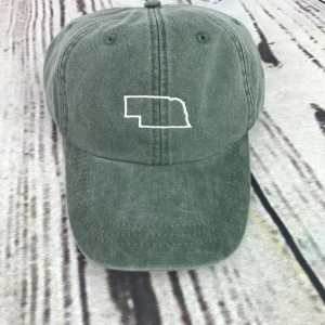 Nebraska baseball cap, Nebraska baseball hat, Nebraska hat, Nebraska cap, State of Nebraska, Personalized cap, Custom baseball cap