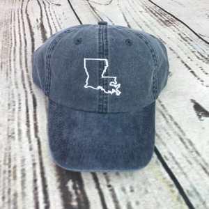 Louisiana baseball cap, Louisiana baseball hat, Louisiana hat, Louisiana cap, State of Louisiana, Personalized cap, Custom baseball cap