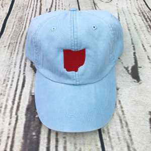 Ohio baseball cap, Ohio baseball hat, Ohio hat, Ohio cap, State of Ohio, Personalized cap, Custom baseball cap