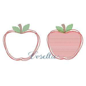 Apple embroidery design, Apple, Back to school, Vintage stitch embroidery design, Applique, Machine embroidery design, Blanket stitch, Beanstitch, Vintage