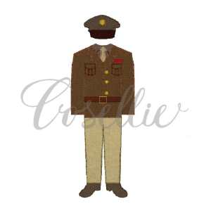 Army uniform embroidery design, Army embroidery design, US Army, USA, US Military, Vintage stitch embroidery design, Applique, Machine embroidery design, Blanket stitch, Beanstitch, Vintage