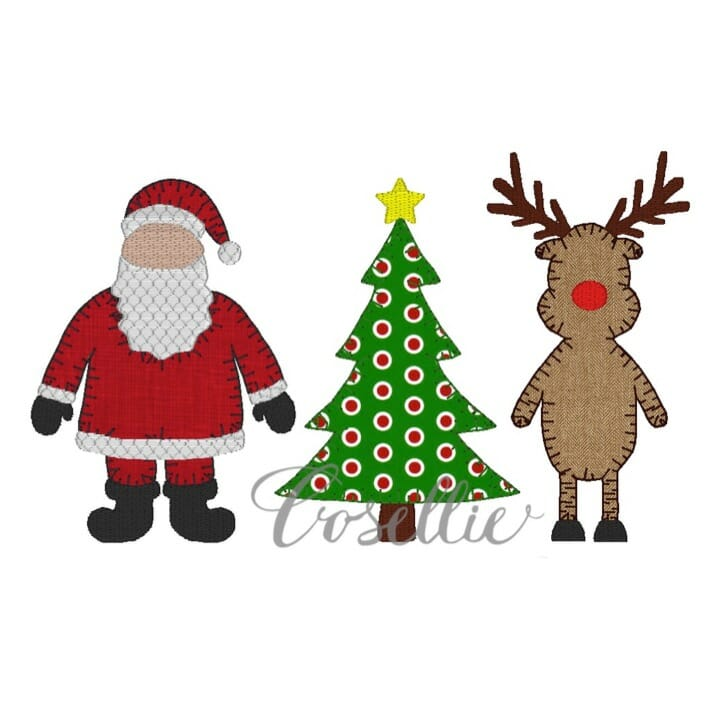 Christmas Embroidery Design Embroidery Design Cosellie