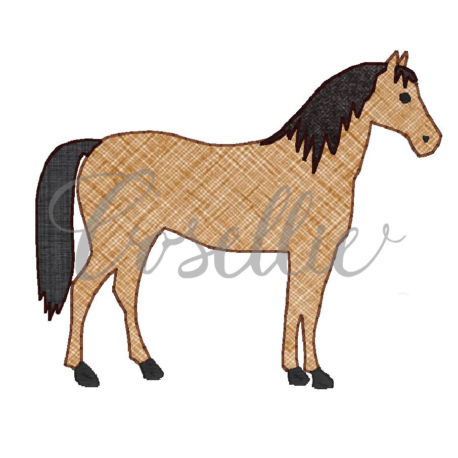 f70ae5e77be Horse applique embroidery design