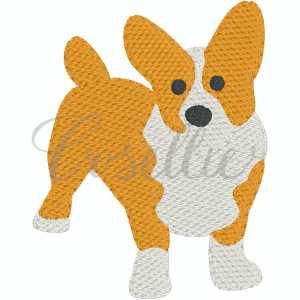Corgi embroidery design, Corgi, Brittany Spaniel, Spaniel, Sketch dog, Sketch beagle, Vintage beagle, Mini beagle, Mini dog, Dog, Puppy, Vintage stitch embroidery design, Applique, Machine embroidery design, Blanket stitch, Beanstitch, Vintage, Classic
