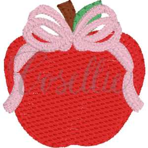 Mini apple bow embroidery design, Art, Apple, Books, Crayons, Vintage crayons, Back to school, Vintage stitch embroidery design, Applique, Machine embroidery design, Blanket stitch, Beanstitch, Vintage, Classic