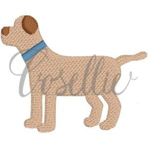 Mini Dog embroidery design, Mini dog, Mini lab, Simple dog, Dog outline, Dog, Vintage dog, Mini design, Vintage stitch embroidery design, Applique, Machine embroidery design, Blanket stitch, Beanstitch, Vintage