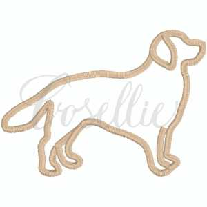 Golden Retriever outline embroidery design, Sketch Golden Retriever, Golden, Labrador, Mini dog, Dog, Puppy, Vintage stitch embroidery design, Applique, Machine embroidery design, Blanket stitch, Beanstitch, Vintage, Classic, Sketch