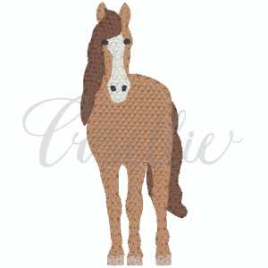 Mini horse embroidery design, Mini horse, Horse, Farm animals, Farm, Barn, Chicken, Cow, Dairy cow, Milk cow, Sheep, Goat, Pig, Horse, Vintage, Build your own, Vintage stitch embroidery design, Applique, Machine embroidery design, Blanket stitch, Beanstitch, Vintage, Classic, Sketch