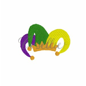 Mini Jester hat embroidery design, Mardi Gras mask, Mask, Jester hat, Mardi Gras parade, Vintage stitch embroidery design, Applique, Machine embroidery design, Blanket stitch, Beanstitch, Vintage