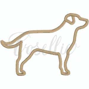 Labrador outline embroidery design, Sketch Labrador Retriever, Golden, Labrador, Mini dog, Dog, Puppy, Vintage stitch embroidery design, Applique, Machine embroidery design, Blanket stitch, Beanstitch, Vintage, Classic, Sketch