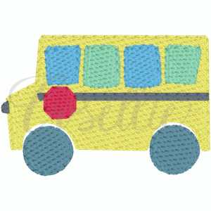 Mini school bus embroidery design, Bus, Apple, School bus, apple, crayons, Back to school embroidery design, Vintage stitch embroidery design, Applique, Machine embroidery design, Blanket stitch, Beanstitch, Vintage, Classic