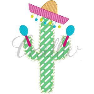 Party cactus applique embroidery design, Cactus, Fiesta, Sombrero, Birthday, Party, Cactus applique, Summer, Vintage stitch embroidery design, Applique, Machine embroidery design, Blanket stitch, Beanstitch, Vintage