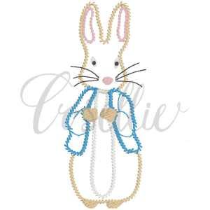 Peter Rabbit outline embroidery design, Beatrix Potter, Peter Rabbit, Boy bunny, Boy rabbit, Vintage stitch embroidery design, Applique, Machine embroidery design, Blanket stitch, Beanstitch, Vintage