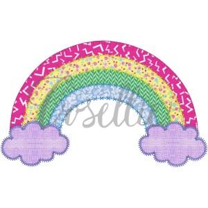 Rainbow appliqué embroidery design, Rainbow applique, St. Patrick's, Spring, Summer, intage stitch embroidery design, Applique, Machine embroidery design, Blanket stitch, Beanstitch, Vintage