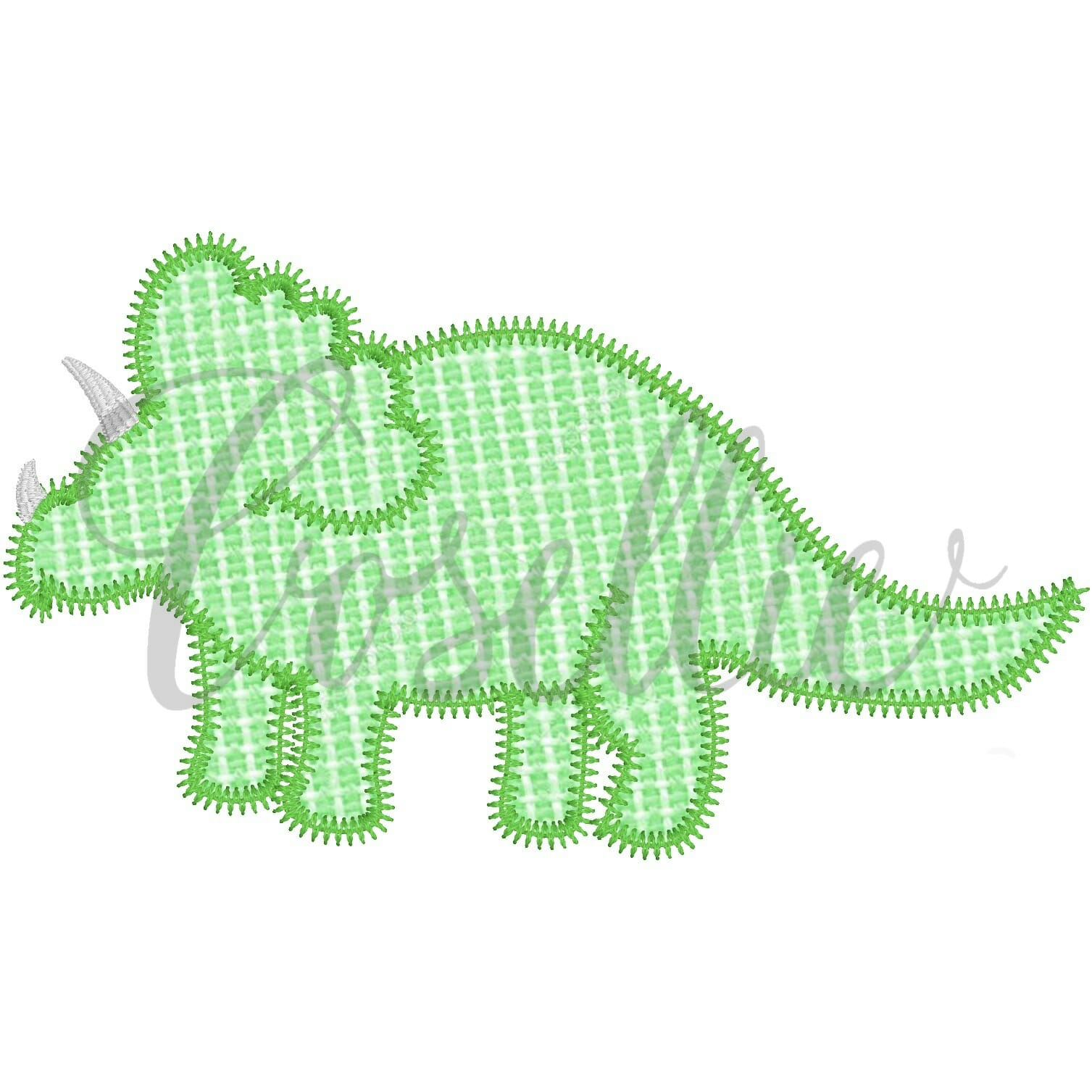 Triceratops Applique Embroidery Design Embroidery Design Cosellie