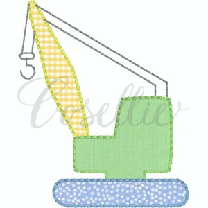 Crane applique embroidery design, Construction vehicles, Boy, Vehicles, Cars, Applique, Bulldozer, Dump truck, Crane, Excavator, Cement truck, Vintage stitch embroidery design, Applique, Machine embroidery design, Blanket stitch, Beanstitch, Vintage, Classic