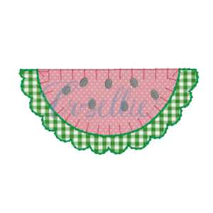 Watermelon embroidery design, Watermelon applique embroidery design, Summer, Fruit, Spring embroidery design, Vintage stitch embroidery design, Applique, Machine embroidery design, Blanket stitch, Beanstitch, Vintage