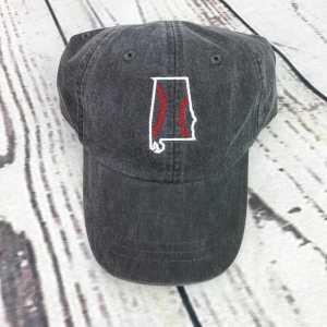 Alabama baseball seams cap, Alabama baseball cap, Alabama baseball hat, Alabama hat, Alabama cap, State of Alabama, Personalized cap, Custom baseball cap, baseball stitches, baseball stripes