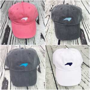 North Carolina baseball cap, North Carolina baseball hat, North Carolina hat, North Carolina cap, State of North Carolina, Personalized cap, Custom baseball cap