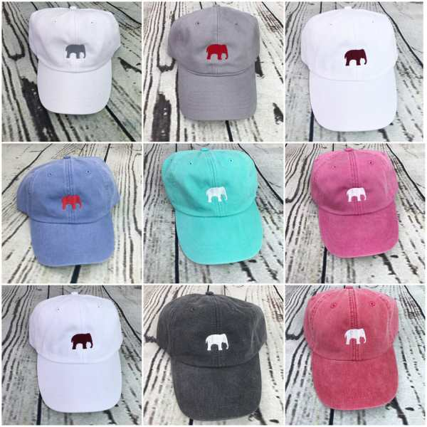 Elephant baseball cap, Elephant baseball hat, Elephant hat, Elephant cap, Personalized cap, Custom baseball cap, Alabama baseball cap