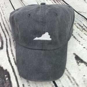 Virginia baseball cap, Virginia baseball hat, Virginia hat, Virginia cap, State of Virginia, Personalized cap, Custom baseball cap