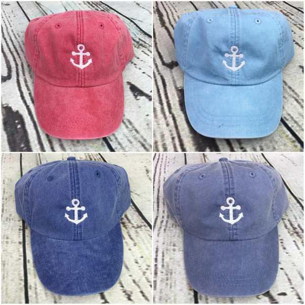 Anchor baseball cap, Anchor baseball hat, Anchor hat, Anchor cap, Personalized cap, Custom baseball cap