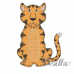 Tiger embroidery design, Football, Tiger, Auburn, LSU, Clemson, Vintage stitch embroidery design, Applique, Machine embroidery design, Blanket stitch, Beanstitch, Vintage