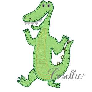 Gator embroidery design, Football, Gator, Florida, Vintage stitch embroidery design, Applique, Machine embroidery design, Blanket stitch, Beanstitch, Vintage