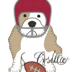 Bulldog football helmet embroidery design, Football, Bulldog, Mississippi state, Georgia, Vintage stitch embroidery design, Applique, Machine embroidery design, Blanket stitch, Beanstitch, Vintage