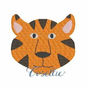 Mini tiger embroidery design, Tiger, Vintage tiger, Football, Vintage stitch embroidery design, Applique, Machine embroidery design, Blanket stitch, Beanstitch, Vintage